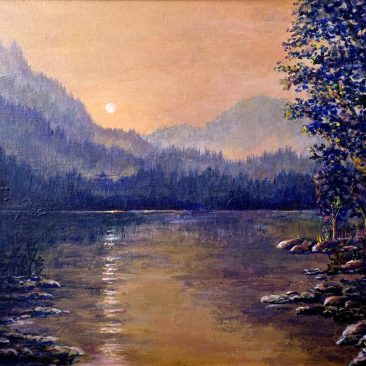 Mountian-Reflections-Framed-Canvas-16x20-$350