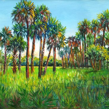 Myakka-Palms-11x14-Acrylic-on-Canvas$170