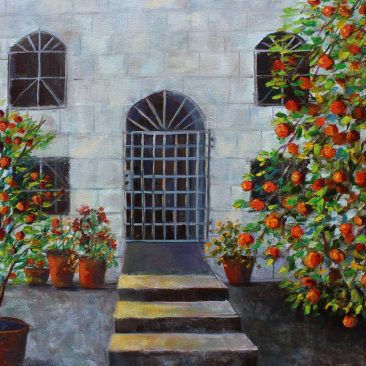 Orange-Trees----16x-20-Gallery-Wrap-Canvas-$350