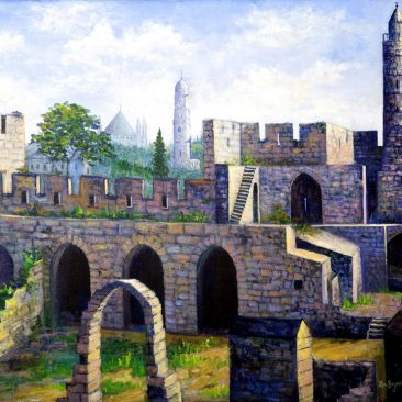 Tower-Of-David-Jerusalem--24x30-$700