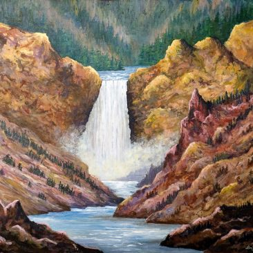 yellowstone-falls-24-x-30-acrylic-on-canvas-600