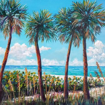 longboat-key-palms-11-x14-framed-canvas-175